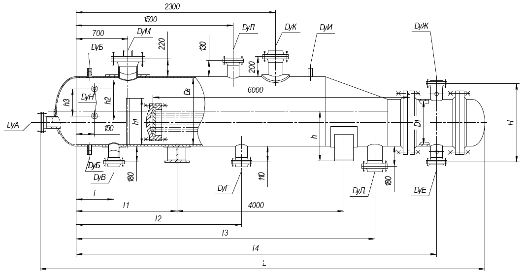Вертикальный теплообменник чертежи f=97м теплообменники для сети гвс